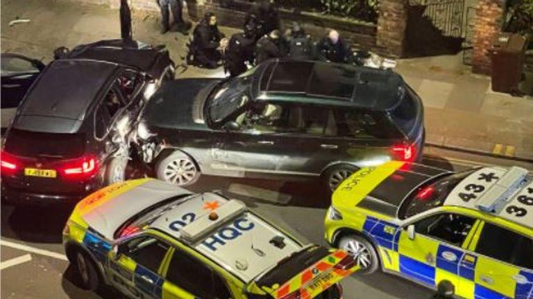 Scene of the arrest in Chiswick