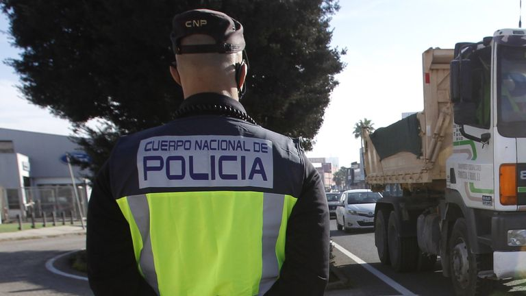 Spanish police said they had arrested a 40-year-old man