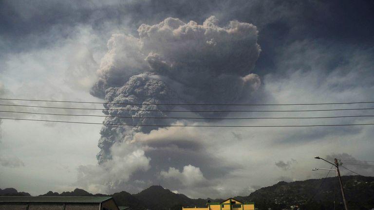 ثار البركان يوم الجمعة