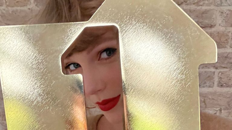 Taylor Swift's re-recording of her album Fearless has become her third chart-topping album in less than 12 months. Pic: Official Charts Company