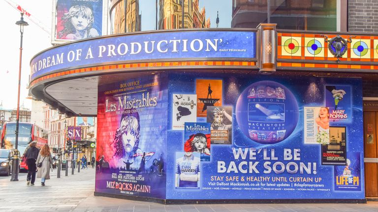 Theatres have been closed across the UK during the pandemic