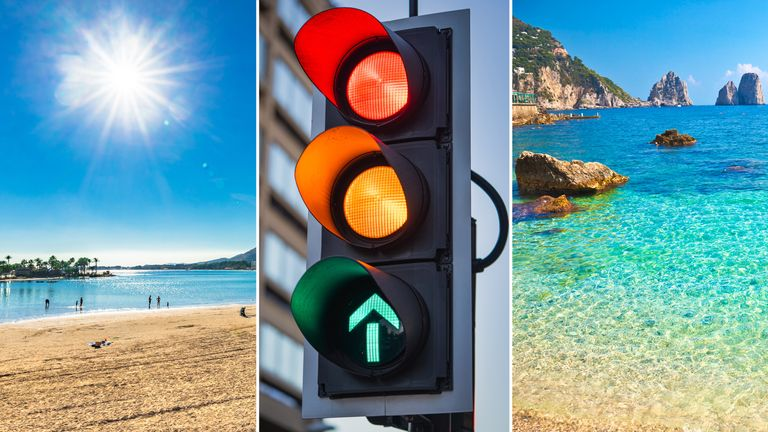 A traffic light system is going to be introduced as part of plans to safely restart international travel