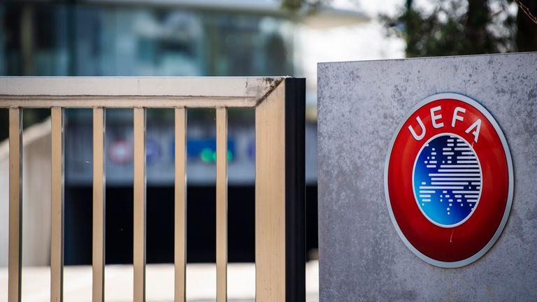 UEFA headquarters in Nyon, Switzerland. Pic: AP