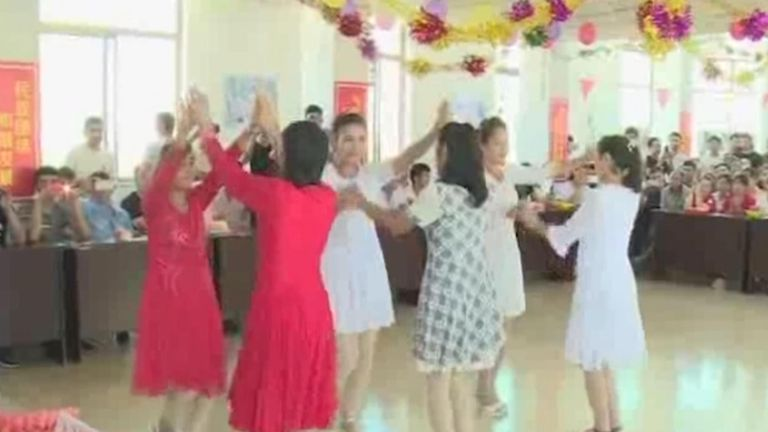 Uighurs in Shandong shown dancing on Chinese state media celebrating the festival of Eid-al-Adha