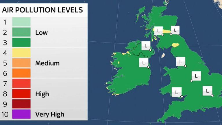 UK Air Quality Report 23 April 2021