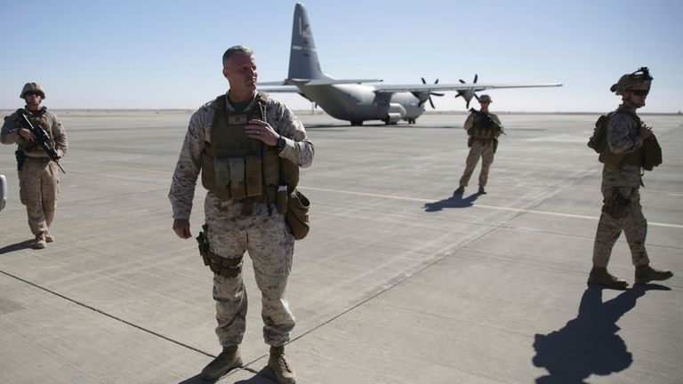 US troops are set to leave Afghanistan in September. Pic: Associated Press