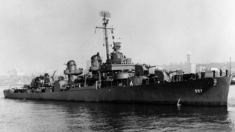 The USS Johnston was sank during the second world war. Pic: US Navy