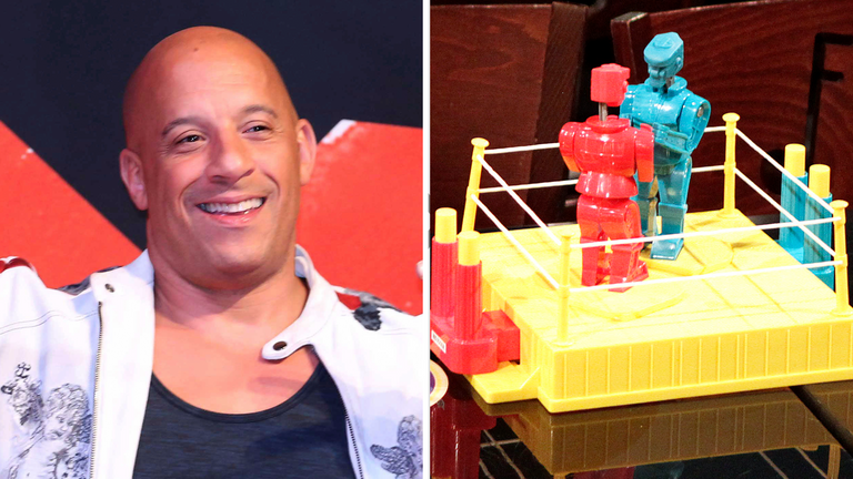 Vin Diesel will star in a film about table-top robots. Pics: GDA via AP and Reuters