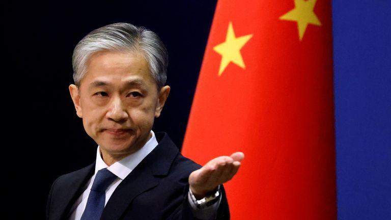 China's Ministry of Affairs spokesman, Wang Wenbin