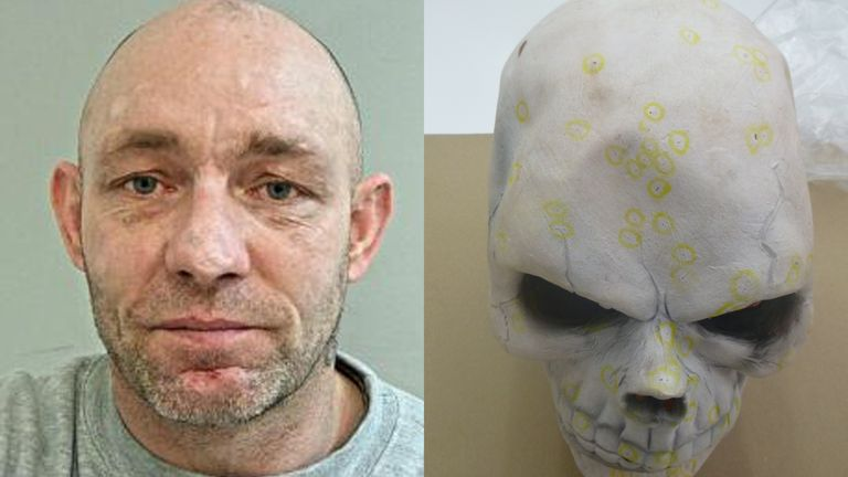 Alan Edwards, has been sentenced to life after Susan Waring's blood was found on a skull mask in his flat