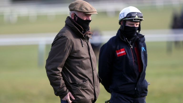 Willie Mullins, left, will be hoping Paul Townend, right, will get him his first national winner since 2005
