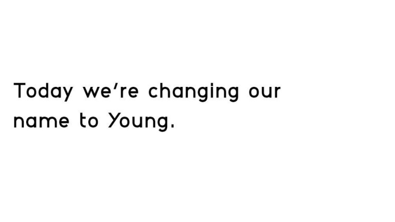 Young Turks has rebranded as Young. Pic: Instagram/Young
