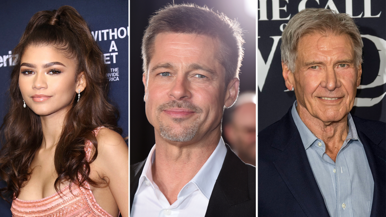 Zendaya, Brad Pitt, Harrison Ford are among those handing out awards this year. Pics: zz/John Nacion/STAR MAX/IPx and Jordan Strauss/Invision and C3396/picture-alliance/dpa via AP