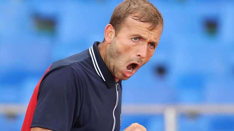 Dan Evans claimed a solid win against Poland's Hubert Hurkacz to set up a third-round date with Novak Djokovic
