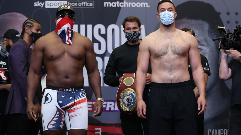 Chisora shared an intense face-off with Parker