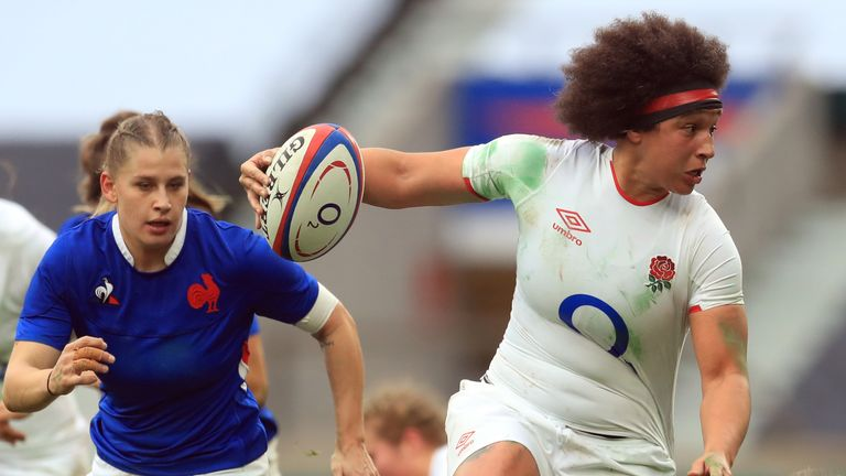 Brown says 'it is a great time to be a female athlete' and that women's sport is no longer in the background