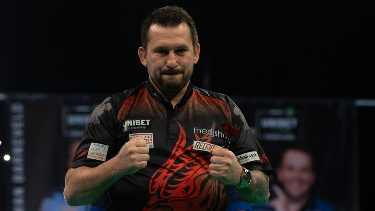 Jonny Clayton is hoping his superb run of form in 2021 continues for a long time after he defeated Glen Durrant