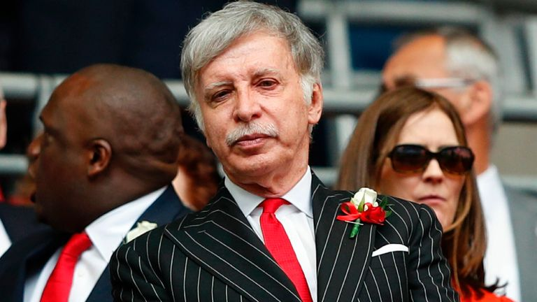 Stan Kroenke has no plans to sell Arsenal despite the European Super League backlash