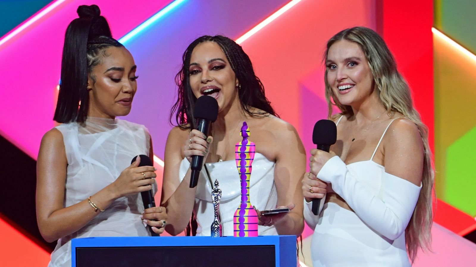 Little Mix: Jesy Nelson shows support for former bandmates after historic Brits win