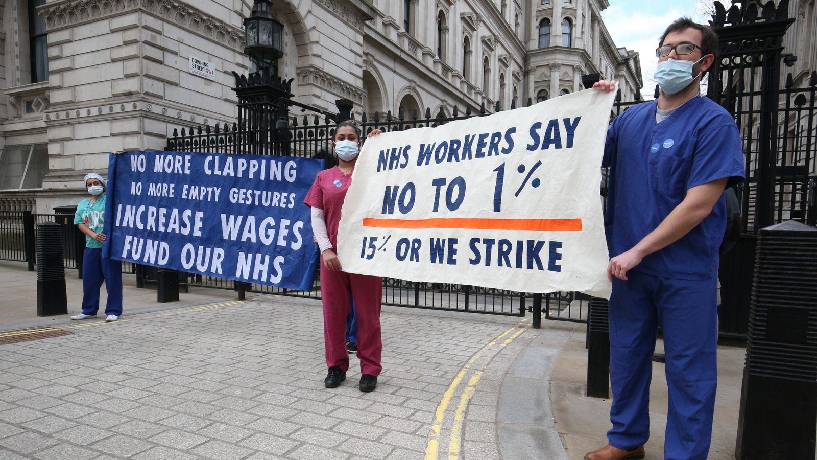 NHS staff in England get pay rise of 3% after their contribution during 'unprecedented year'