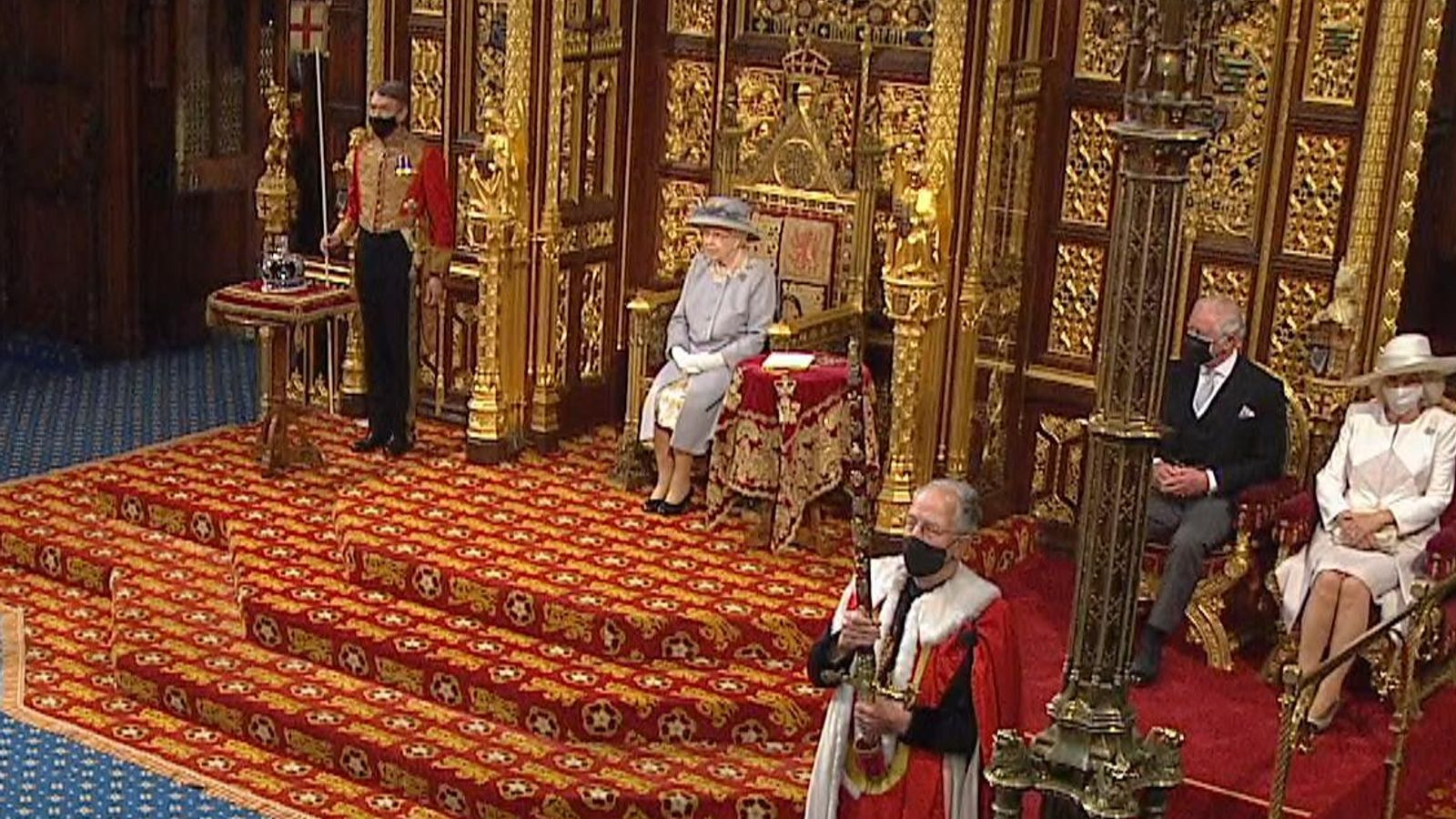 Queen's speech: 'Dressed down' monarch carries out first major engagement since death of husband Philip