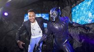 EMBARGOED T0 0001 FRIDAY MAY 14 Pierre-Emerick Aubameyang unveiling the new Black Panther wax figure at Madame Tussauds in central London. Picture date: Thursday May 13, 2021.