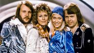 ABBA (L-R): Benny Andersson, Anni-Frid Lyngstad, Agnetha Faltskog and Bjorn Ulvaeus pose after winning the Swedish branch of the Eurovision Song Contest with Waterloo. Pic: AP