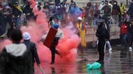 Thousands have gathered in Bogota and Cali during the eight-day of anti-government protests