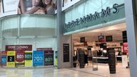 The Debenhams store in Basingstoke, Hampshire, one of the remaining stores closing for the final time on Saturday