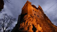 Exterior view of Bran Castle's northern facade, portrayed by Gothic novel writer Bram Stoker as the home of count Dracula, in Brasov county, Romania, October 31, 2016. Inquam Photos/Octav Ganea/