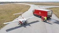 Embargoed to 0001 Monday May 10 Undated handout photo issued by Royal Mail of their new drone programme, which they are to trial on delivering health and safety equipment, Covid testing kits and other items to the Isles of Scilly. Issue date: Monday May 10, 2021