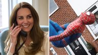 The Duchess of Cambridge spoke of her admiration for the work of a teacher-turned-Spider-Man