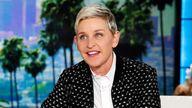Ellen DeGeneres pictured on her show in 2016. Pic: AP