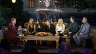 James Corden speaks to the Friends in the special reunion show. Pic: Warner Media/ HBO/ Sky UK