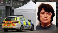 """Police activity at The Clean Plate cafe in Southgate Street, Gloucester where excavation work is to begin after police found """"possible evidence"""" of where a suspected teenage victim of serial killer Fred West may be buried. Forensic archaeologists have been undertaking exploratory work in connection with the disappearance of 15-year-old Mary Bastholm who was last seen alive in January 1968. Picture date: Tuesday May 18, 2021."""