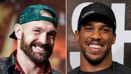 (L-R) Tyson Fury and Anthony Joshua. Pics: AP