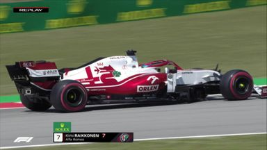 Raikkonen suffers puncture