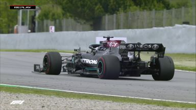 Blistered tyre for Hamilton