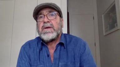 A trawler? Cantona spots a boat mid-interview!