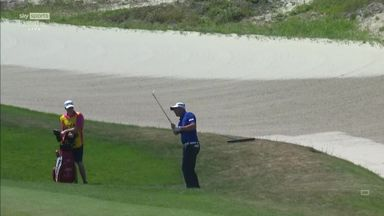 Harrington finds sand hole-out
