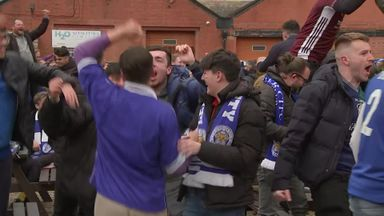 Leicester fans revel in historic Cup win