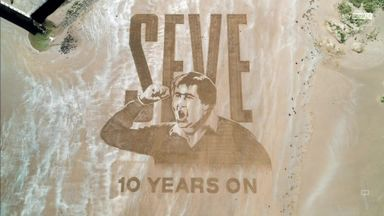 Sand tribute to Seve at St Andrews