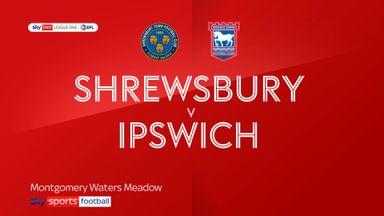 Shrewsbury 0-0 Ipswich