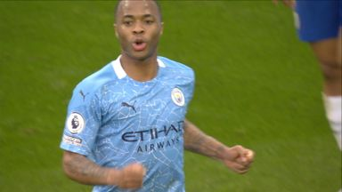 Sterling gives City the lead! (44)