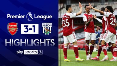West Brom relegated after defeat at Arsenal