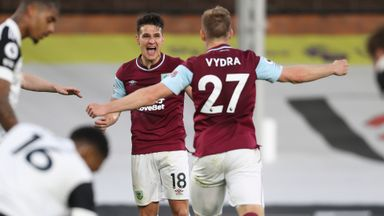 HT Fulham 0-2 Burnley