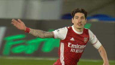 Bellerin shot saved by Kepa (66)