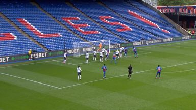 Benteke heads against crossbar (59)