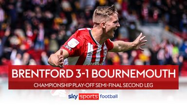 Brentford 3-1 Bournemouth (Agg 3-2)