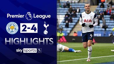 Bale scores twice as Spurs stun Leicester